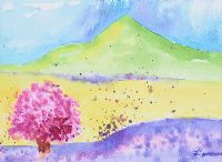 CHERRY BLOSSOM, CANOLA & LAVENDER by Lynda Cookson at Ross's Auctions
