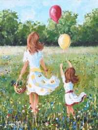 LAUNCHING THE BALLOONS by Lorna Millar at Ross's Auctions