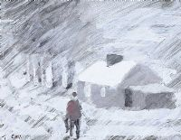 WINTER COTTAGE by Tom Carr HRHA RUA RWS at Ross's Auctions