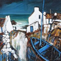 COASTAL DWELLINGS, COUNTY ANTRIM by J.P. Rooney at Ross's Auctions
