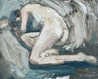 KNEELING FEMALE NUDE by Colin Davidson RUA at Ross's Auctions