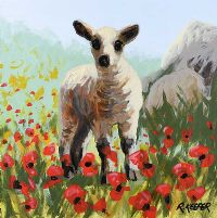 LAMB & POPPIES by Ronald Keefer at Ross's Auctions