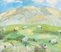 SHEEP GRAZING by David Johnston at Ross's Auctions