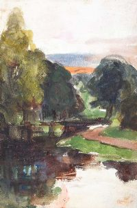TREES BY THE RIVER LAGAN by William Conor RHA RUA at Ross's Auctions