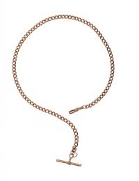 9CT ROSE GOLD ALBERT CHAIN at Ross's Auctions