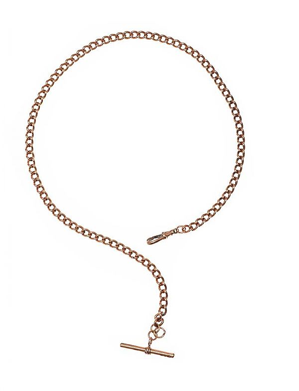 9CT ROSE GOLD ALBERT CHAIN at Ross's Online Art Auctions