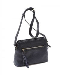 HOBBS NAVY LEATHER CROSSBODY BAG at Ross's Jewellery Auctions