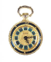 GOLD-PLATED CLAMA FOB WATCH at Ross's Auctions