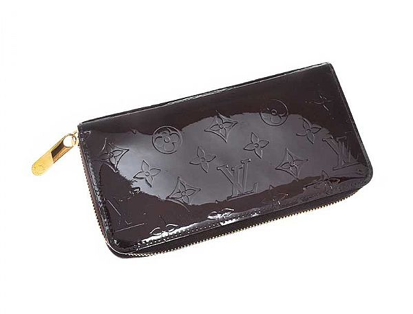 LOUIS VUITTON PATENT LEATHER WALLET WITH BOX at Ross's Online Art Auctions
