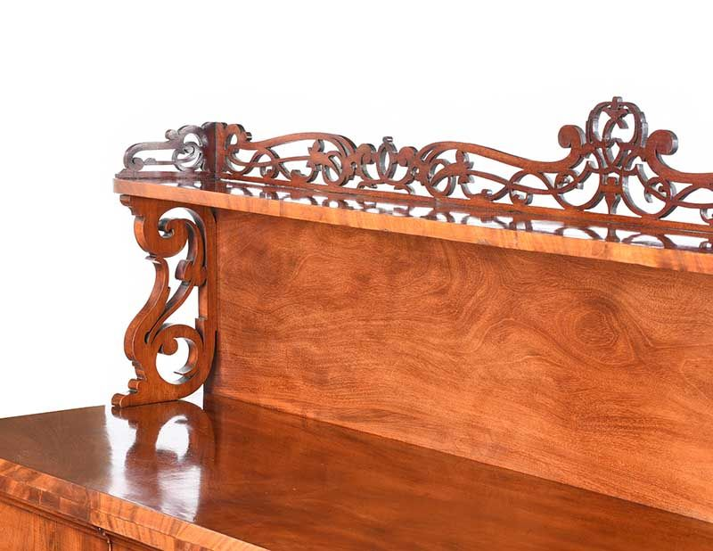 VICTORIAN MAHOGANY GALLERY BACK SIDEBOARD at Ross's Online Art Auctions