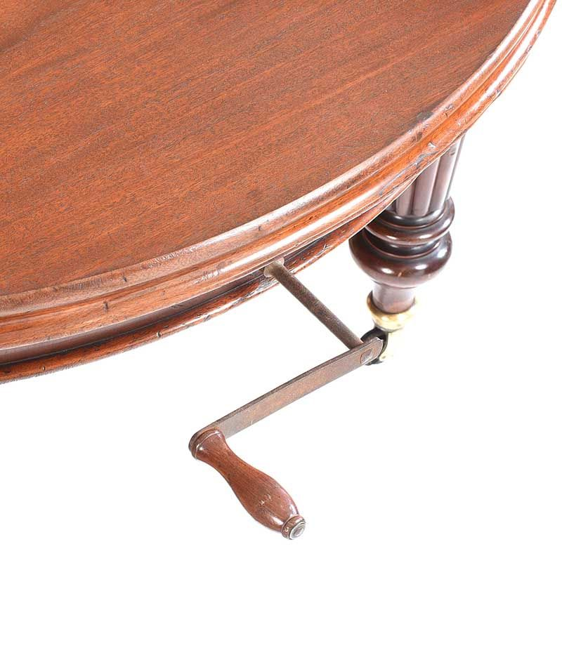 VICTORIAN MAHOGANY D-END DINING ROOM TABLE at Ross's Online Art Auctions