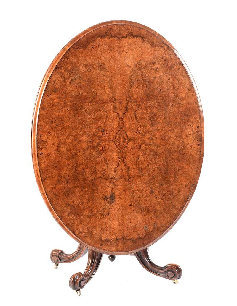 VICTORIAN OVAL WALNUT BREAKFAST TABLE at Ross's Online Art Auctions