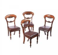 SET OF FOUR WILLIAM IV MAHOGANY DINING ROOM CHAIRS at Ross's Auctions