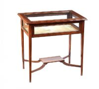 EDWARDIAN MAHOGANY SPECIMEN TABLE at Ross's Auctions