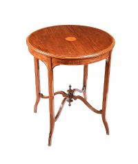 EDWARDIAN MAHOGANY LAMP TABLE at Ross's Auctions
