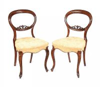 PAIR OF VICTORIAN ROSEWOOD BALLOON BACK OCCASIONAL CHAIRS at Ross's Auctions