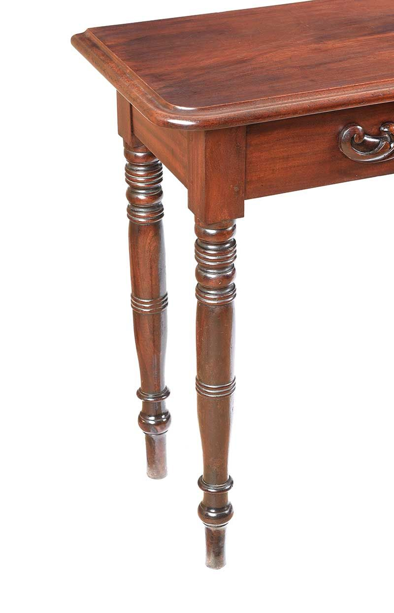 VICTORIAN MAHOGANY CONSOLE TABLE at Ross's Online Art Auctions