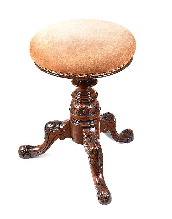 VICTORIAN PIANO STOOL at Ross's Online Art Auctions