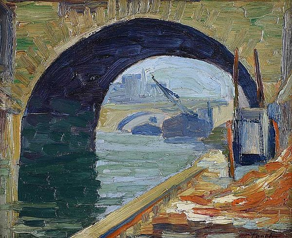 ARCHWAY, RIVER SEINE by William J. Leech RHA at Ross's Online Art Auctions