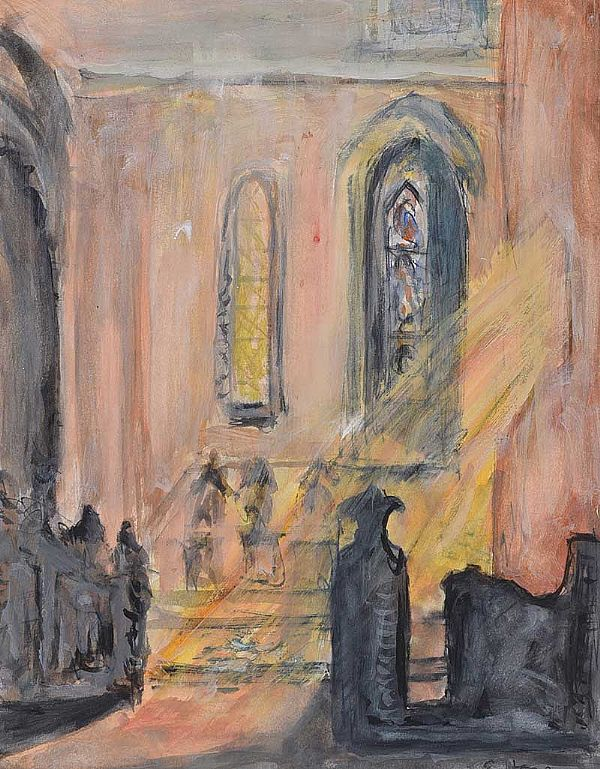 LIGHT THROUGH A CHURCH WINDOW by Evie Hone HRHA at Ross's Online Art Auctions