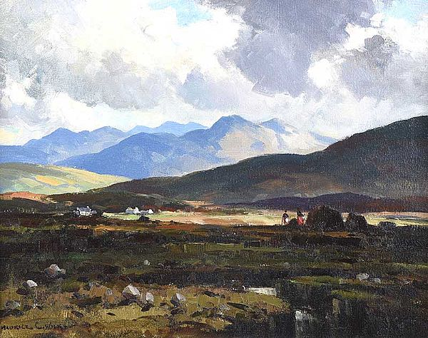 KERRY BOGLAND, COUNTY KERRY by Maurice Canning  Wilks ARHA RUA at Ross's Online Art Auctions