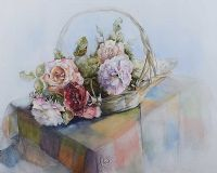 BASKET OF FLOWERS by Barbara Love Smith at Ross's Auctions