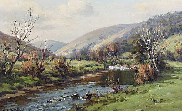 SPRING IN GLENDUN, GLENS OF ANTRIM by Charles McAuley at Ross's Online Art Auctions