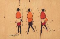 THREE WARRIORS by African School at Ross's Auctions