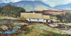 COTTAGE NEAR SNEEM, COUNTY KERRY by Paul Gallagher at Ross's Auctions
