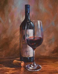 STILL LIFE, GLASS OF WINE by Donal McNaughton at Ross's Auctions