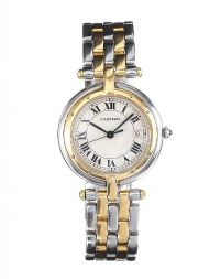 CARTIER 18CT GOLD AND STAINLESS STEEL LADY'S WRIST WATCH at Ross's Auctions