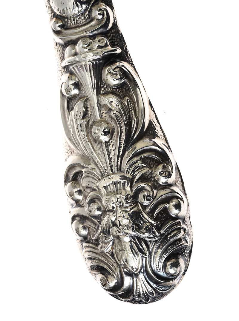 STERLING SILVER HAIR BRUSH at Ross's Online Art Auctions