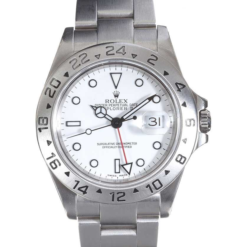 ROLEX 'EXPLORER II' STAINLESS STEEL GENT'S WRIST WATCH at Ross's Online Art Auctions