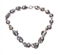 STRAND OF LARGE GREY BAROQUE FRESHWATER PEARLS at Ross's Jewellery Auctions
