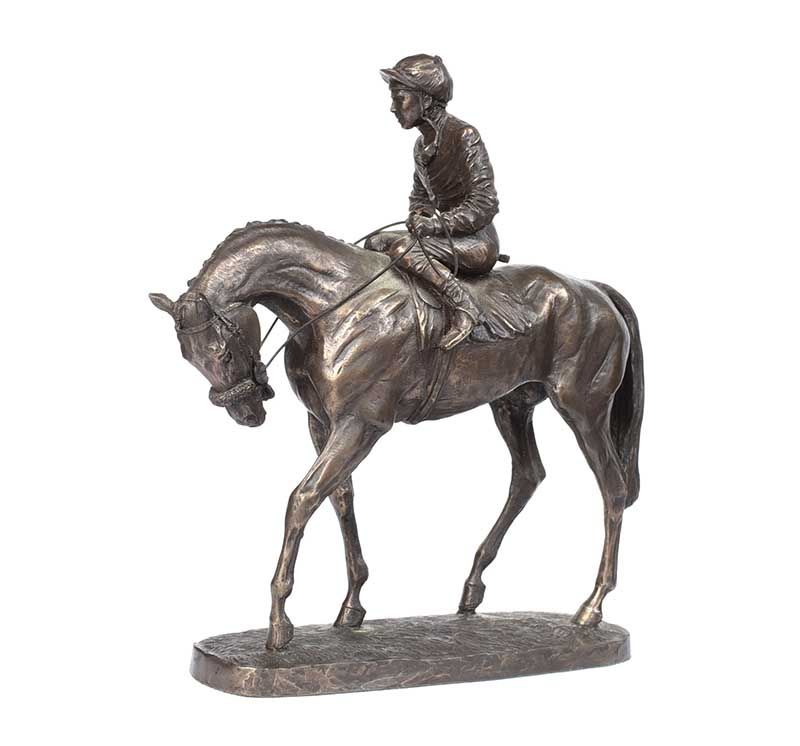 HORSE AND RIDER GROUP at Ross's Online Art Auctions