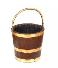 VICTORIAN OAK AND BRASS LOG BUCKET at Ross's Auctions