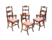 SET OF SIX REGENCY DINING CHAIRS at Ross's Auctions