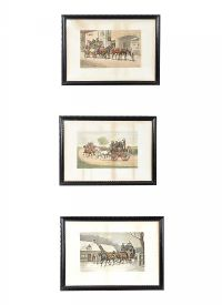 SET OF THREE STAGE COACH PRINTS at Ross's Auctions