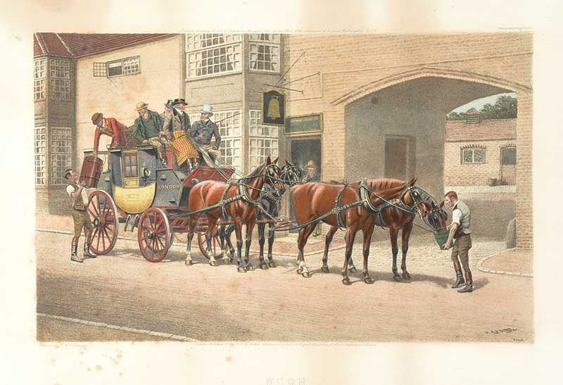 SET OF THREE STAGE COACH PRINTS at Ross's Online Art Auctions