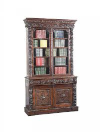 VICTORIAN CARVED OAK BOOKCASE at Ross's Auctions