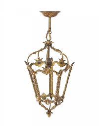 VICTORIAN BRASS LANTERN LIGHT FITTING at Ross's Auctions