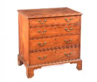 GEORGIAN MAHOGANY CHEST OF DRAWERS at Ross's Auctions