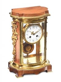 19TH CENTURY ORMOLU AND MAHOGANY CLOCK at Ross's Auctions