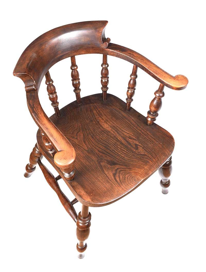 OAK TUB CHAIR at Ross's Online Art Auctions