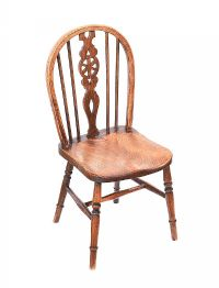 VICTORIAN ELM WINDSOR CHILD'S CHAIR at Ross's Auctions