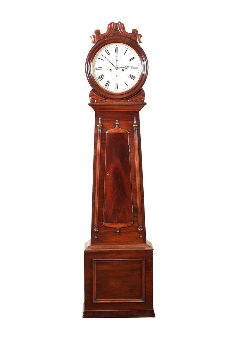 VICTORIAN MAHOGANY GRANDFATHER CLOCK at Ross's Online Art Auctions