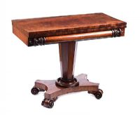 LATE REGENCY MAHOGANY TURN OVER LEAF TEA TABLE at Ross's Online Art Auctions