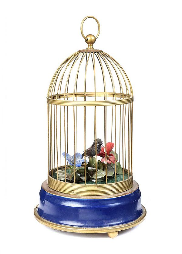 SINGING BIRD AUTOMATO IN CAGE at Ross's Online Art Auctions