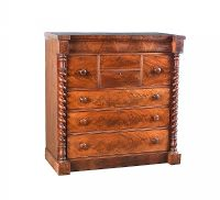 WILLIAM IV MAHOGANY SCOTCH CHEST OF DRAWERS at Ross's Auctions