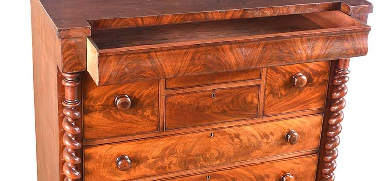 WILLIAM IV MAHOGANY SCOTCH CHEST OF DRAWERS at Ross's Online Art Auctions